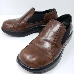 Dansko Women's Platform Loafer Clogs Slip Ons